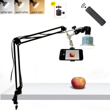 Desktop Phone Photography 35W LED Lamp with Suspension Arm Bracket Stand Kits For Photo Video Shooting Fill Light 3 Light Modes
