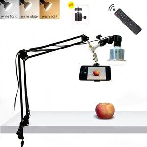 Image 1 - Telefone desktop fotografia 35w lâmpada led com suspensão braço suporte kits para fotografia de vídeo preenchimento luz 3 modos luz