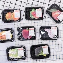 Notas adesivas série de frutas e vegetais, bloco de notas bonito kawaii, diário, flocos de papelaria, scrapbook, notas decorativas