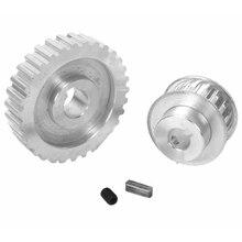 цена на ABSS-2Pcs Metal Synchronous Pulley Gear Motor Belt Gear Drive Wheel Gear S/N Cj0618 Mini Lathe Gears , Metal Cutting Machine G