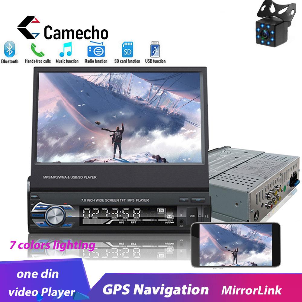 "Camecho 1din Autoradio 7 ""HD Android Mirrorlink GPS Naviation Autoradio Bluetooth voiture lecteur multimédia pour Autoradio universel"