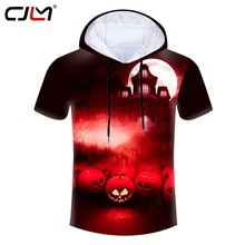 CJLM Halloween New Man Horror Castle Tee Shirt Street Wear Best Selling Wholesale Hooded Tshirt 6XL Men's 3D Printed Clothing(Hong Kong,China)