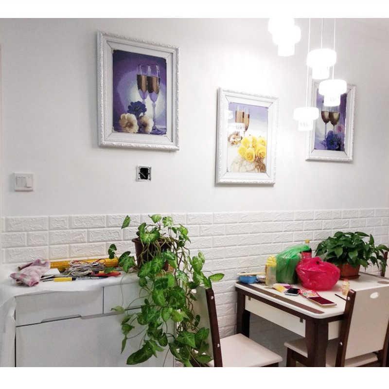 1pc/5 sztuk 3D tapeta z cegłami naklejki ścienne wodoodporne DIY samoprzylepne dekoracje do sypialni dzieci pokój tapeta do salonu papieru