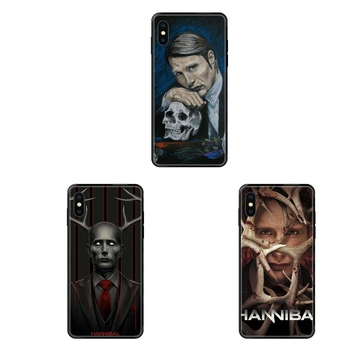 Cool Graham Hannibal Mads Mikkelsen Black Soft Fashion Mobile Phone For Xiaomi Mi Note A1 A2 A3 5 5s 6 8 9 10 SE Lite Pro Ultra image
