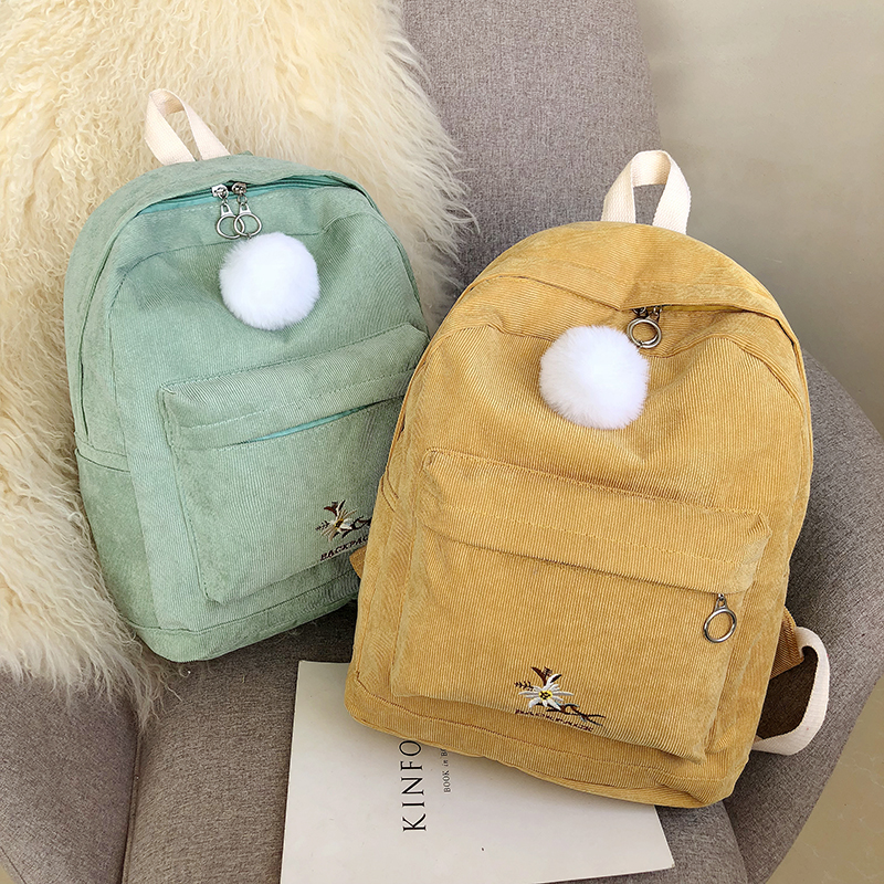 Fashion Wool Ball Backpack Women's Korean Casual Small Backpack Versatile Student Bag 2019 New Street Trend