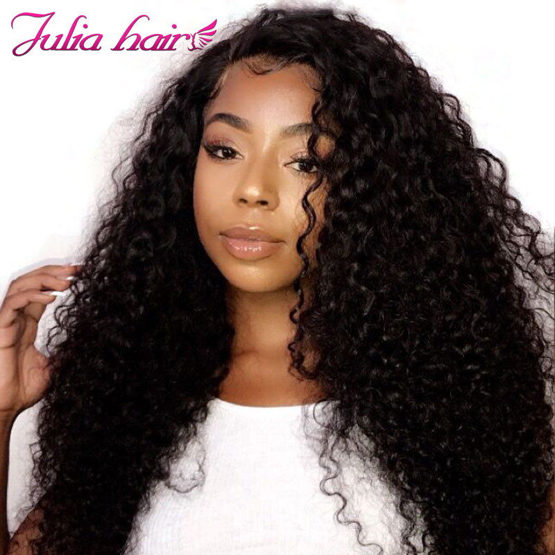 Ali Julia Hair 13×4 13×6 Transparent Lace Front Wig Brazilian Curly Human Hair Wigs With Baby Hair Remy 150% Density