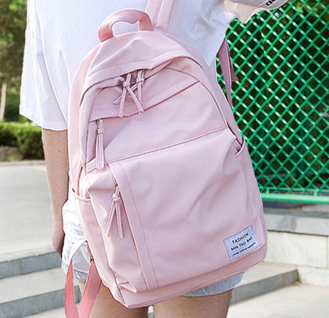 Mochila de nailon a la moda para mujeres, Mochilas escolares para adolescentes, mochila para estudiantes de estilo pijo, mochila femenina, Mochilas femeninas
