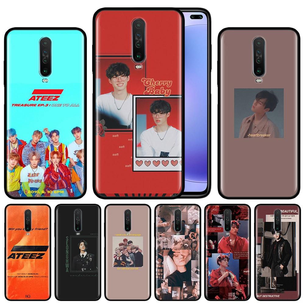 Kpop Ateez Case Voor Xiaomi Redmi Note 8T 8 7 K20 K30 5G 7 S 6 Pro 6A zwart Siliconen Beschermhoes Telefoon Cover