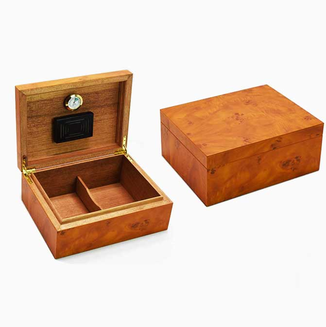 Cigar Box Humidor Cedar Wood Cigar Moisturizing Box With Hygrometer Humidifier Puros Habanos Humidor De Puros