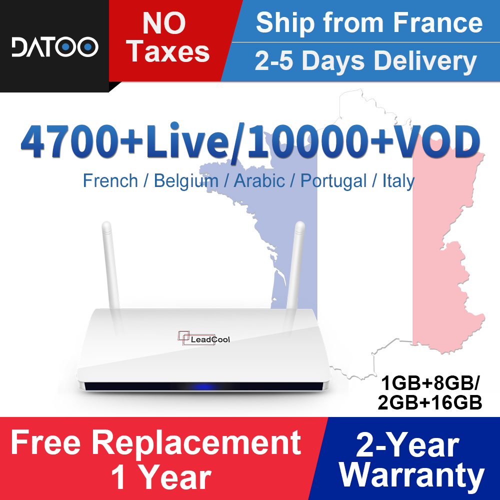 Full HD France IPTV Leadcool Android 8.1 Tv Box Iptv French Arabic IPTV Italy Spain Portugal Turkey Germany Qatar UAE IP TV Box-in Set-top Boxes from Consumer Electronics
