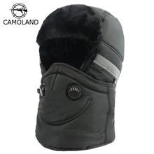 Зимняя шапка для мужчин и женщин, шапка-бомбер с шарфом, противодымчатая маска, русская ушанка, теплая шапка-ушанка, шапка-ушанка, Лыжная Балаклава