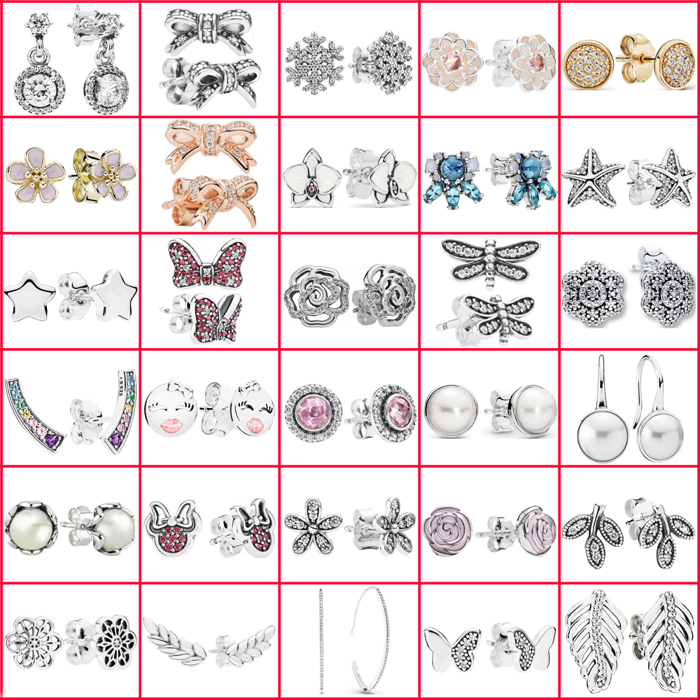 LISM 100% 925 Sterling Silver Earrings Valentine's Day Wedding Anniversary Gift High Quality 1: 1 Jewellery Free Shipping