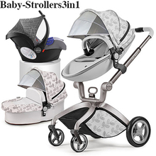 Free shipping 2020 hotmom luxury 3 in 1 baby newborn fashion stroller with seat