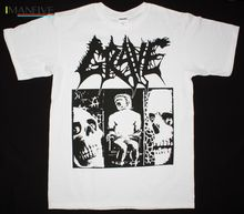 GRAVE TREMENDOUS PAIN DEATH METAL BAND ENTOMBED THERION NEW WHITE T-SHIRT Summer Short Sleeves Cotton Fashiont Shirt