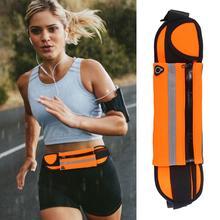 Gorąca sprzedaż torby do biegania umiejętne wytwarzanie pasek sportowy talii torba wodoodporne neopren owe siłownia piterek dla kobiet mężczyzn tanie tanio MOJOYCE CN (pochodzenie) NYLON Unisex Running Bags