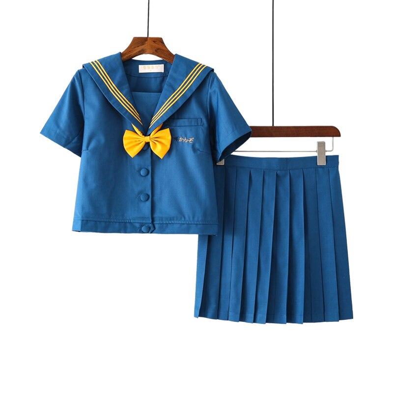 New Arrival school uniform japan JK Sets School Uniform Girls Yellow Bow Autumn High School Women Novelty Sailor Suits Uniforms