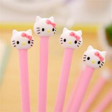 TOPSTHINK Cute hello kitty stationery gel pen kawaii school pink girl creative students neutral