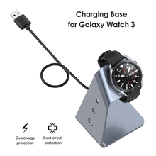 ALLOYSEED Metal Charger Stand for Samsung Galaxy Watch 3 45mm 41mm Active 2 1 40mm 44mm Aluminum Alloy Desktop Holder