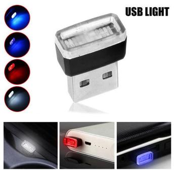 Mini USB Light LED Modeling Car Ambient Light Neon Interior Light Car Jewelry Auto Atmosphere Light Decor Lamp Emergency Light image