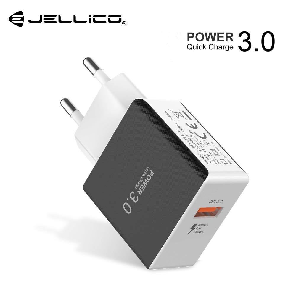 Jellico Quick Charge 3.0 18W QC3.0 Rápido Carregamento Do Carregador Do Telefone Móvel Plugue DA UE Adaptador USB Carregador de Parede para o iphone samsung Xiaomi