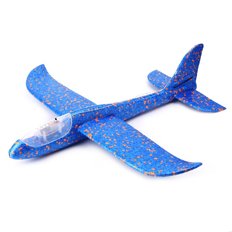 LED Night Airplane Hand Launch Throwing Glider Aircraft Inertial Foam Airplane Toy Plane Model Outdoor Educational Toys image