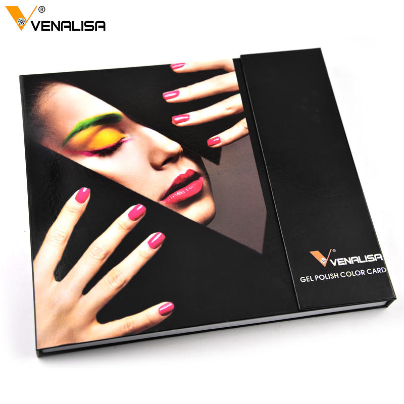 Venalisa 60 Color Nail Art Acrylic False Practical Tips Display Nail Tip Manicure DIY Display Book For Gel Polish Lacquer Varnis
