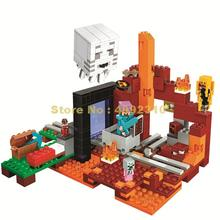 417pcs my world the nether hell portal building blocks 3   21143 Bricks Toy