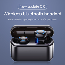 YUNAO A2 Wireless Earphones Bluetooth 5.0 waterproof sport Charging box to charge your phone mini earphones PK i12 i60