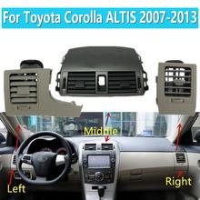 1 zestaw dla Toyota Corolla Altis 2007-2013 samochód klimatyzacja wylot wentylacyjny Panel osłona na maskownicę tanie tanio CN (pochodzenie) Klimatyzacja montaż 0 75kg Air Conditioning Outlet Iinstrument Panel For Toyota Corolla Altis 2007 2008 2009 2010 2011 2012 2013