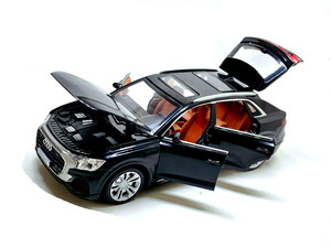 Image 3 - Audi Q8, à forte simulation 1:32, avec lumière sonore, en alliage, modèle de voiture, jouets pour enfants, cadeaux, livraison gratuite