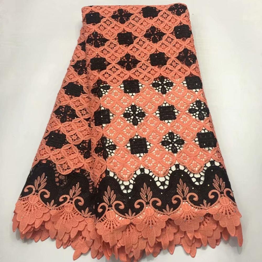 Nueva tela de encaje de guipur africano 2019 de alta calidad, gasa Suiza nigeriana en Suiza, tela de encaje de algodón para boda A1436-in encaje from Hogar y Mascotas    1