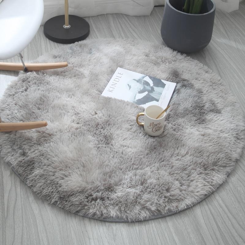 Jiariu round carpet silk hair living room coffee table carpet bedroom bedside computer chair hanging basket yoga floor mat