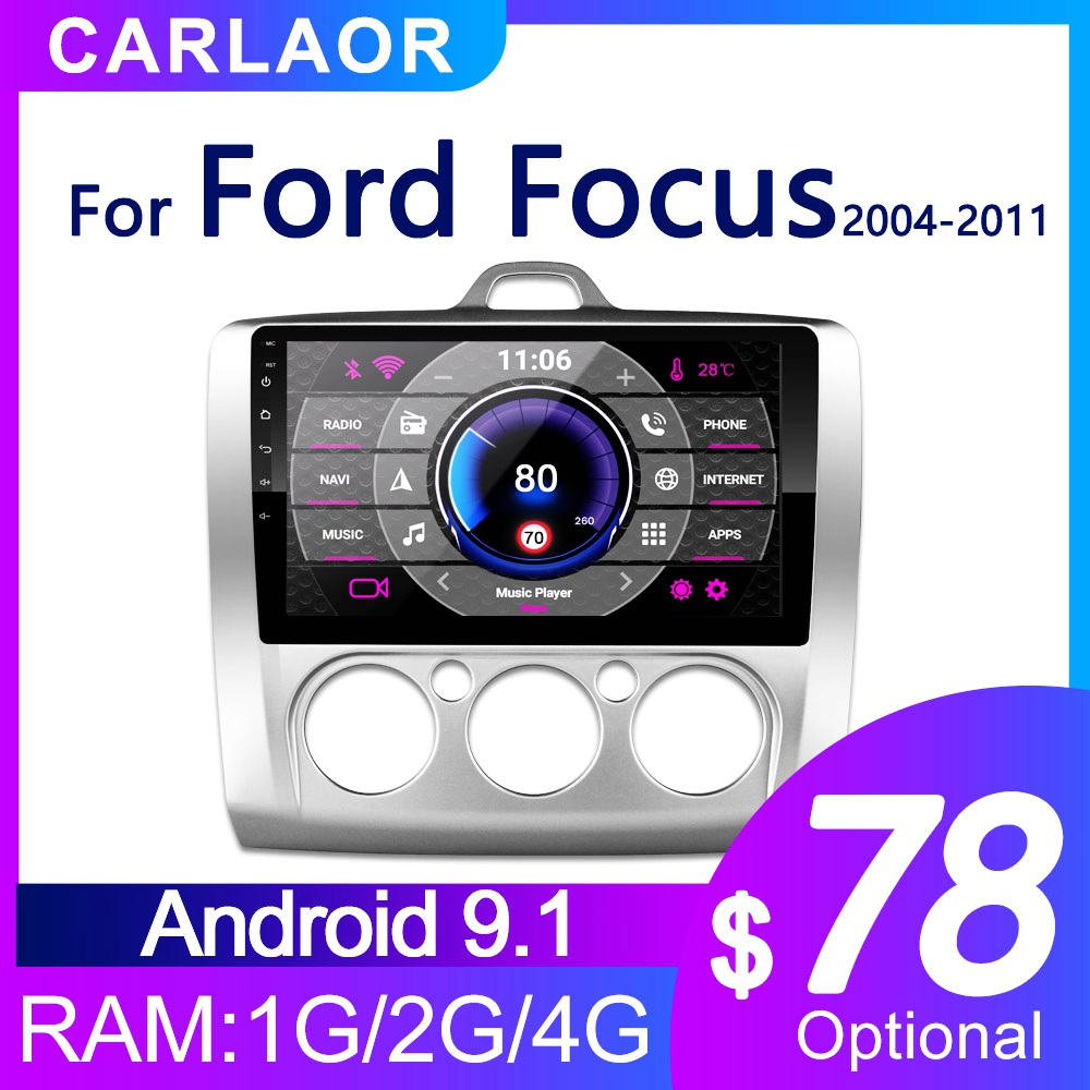 2 DIN 9 Inch Car Android GPS Navigation Radio multimedia Player For Ford Focus Exi AT 2004 2005 2006 2007 2008 2009 2010 2011(China)