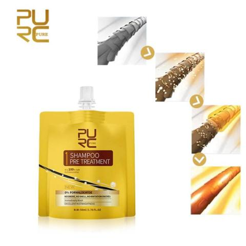 PURC Keratin Hair Treatment Set Oil No Irritation No Irritation No Smoke Repair Straighten Damage Hair Care 3 Steps Islamabad