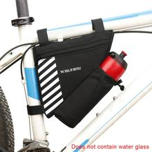 Waterproof Bike Triangle Bag For Bicycle Front Frame Bag Cycling Top Tube Bag Water Bottle Pocket MTB Road Bicycle Cycling Bag rockbros tool bicycle bag rainproof cycling riding bike bag portable mtb road bike water bottle cycling bag bike accessories