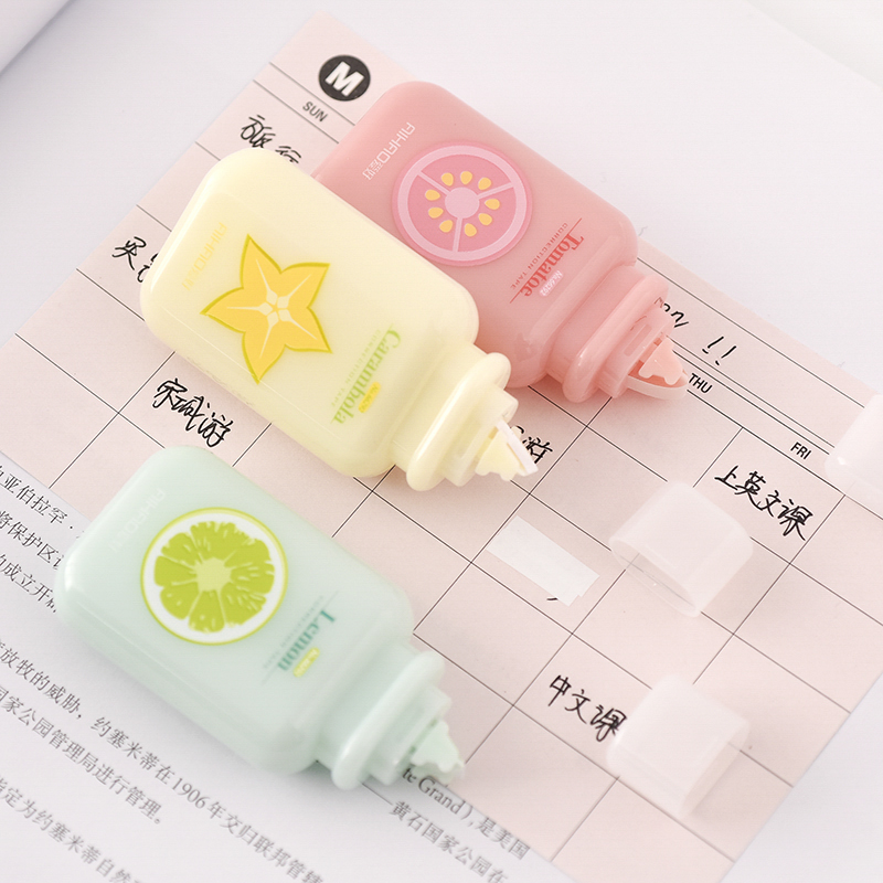 Mohamm 1Pcs Cute Fruit Correction Tape Portable Correction Tape School Supplies Stationery