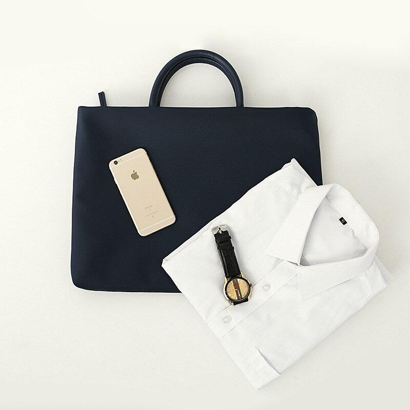 Portable Document Bags A4 Work Bag Waterproof Briefcase Men Women Business Office Meeting Bag Information Handbag Computer Bag