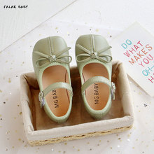 Baby Girls Casual Shoes Toddler Kids Flat Princess Shoes for White Flower Girl Shoes Green St. Patric Shoes for Spring 2t