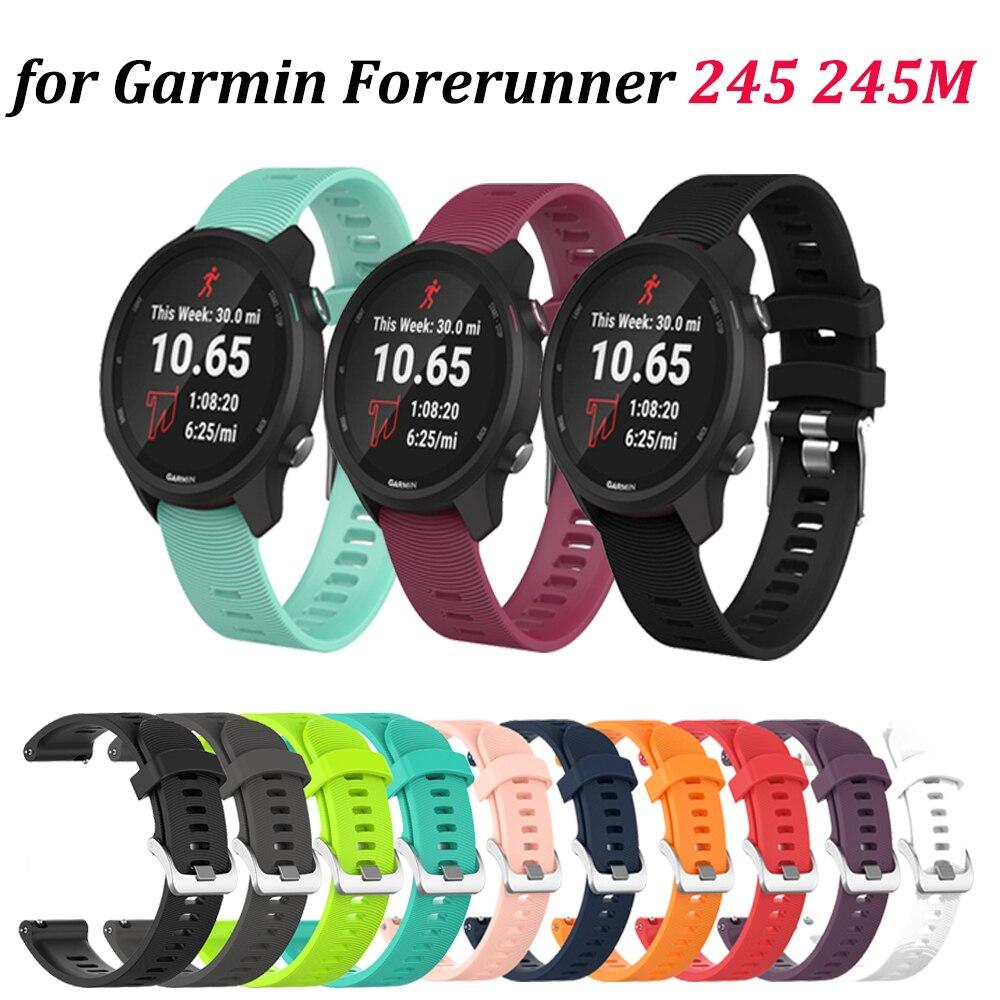 Strap For Garmin Vivoactive3 20MM WatchBand For Garmin Forerunner 245 245M 645 Smart Silicone Sports Bracelet Colorful Wristband