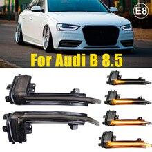 2pcs LED Dynamic Turn Signal Light Car Rear View Mirror LED Indicator Blinker For Audi A3 8P A4 A5 B8 Q3 A6 S6 SQ3 A8 D3 8K