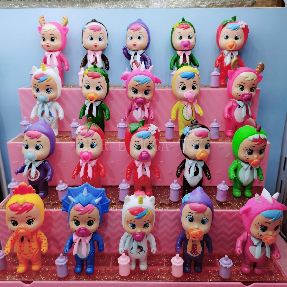 3Pc/6Pc/12 Teile/satz Cry Puppen Können Zugeführt Werden mit Wasser, beregnung Wasser und Weinende Puppe Spielzeug, Senden Verschiedene Zufall