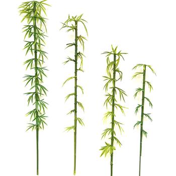 10 sztuk nowa sztuczna zielona z liśćmi bambusa fałszywe zielone rośliny zielone liście na domowy Hotel dekoracja biurowa tanie i dobre opinie TPXCKz CN (pochodzenie) Krajobraz Tradycyjny chiński Z tworzywa sztucznego