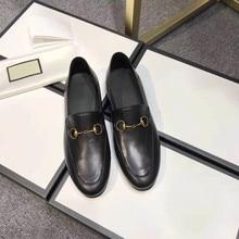 Lok Fu shoes 35~43  women's shoes flat-bottom simple and comfortable black brand classic fashion anti-slip wear-resistant 2021