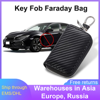 Cubierta de llave bloqueador de señal RFID para coche, caja de Faraday de llavero Premium, Protector antirrobo, caja de bloqueo de señal GPS antihacking
