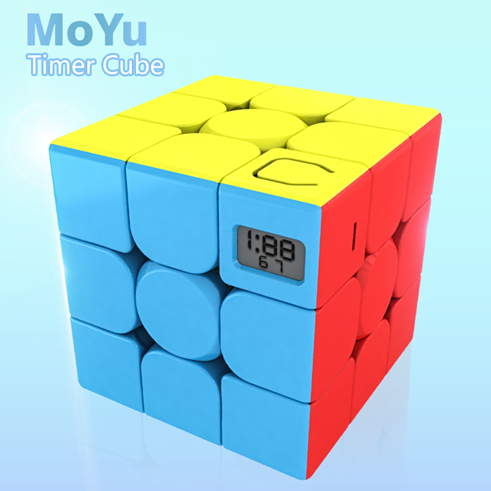 Moyu Meilong 3x3x3 Magic Timer Cube Cubing Classroom Profissional Competition Speed Puzzle Cubo Magico Stickerless Toys For Kids
