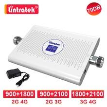 Lintratek מגבר gsm 3g 4g אות להקה כפולה 1800 2100 mhz dcs 2G 4G 900 1800 LTE celular אות booster umts 3G 70db משחזר