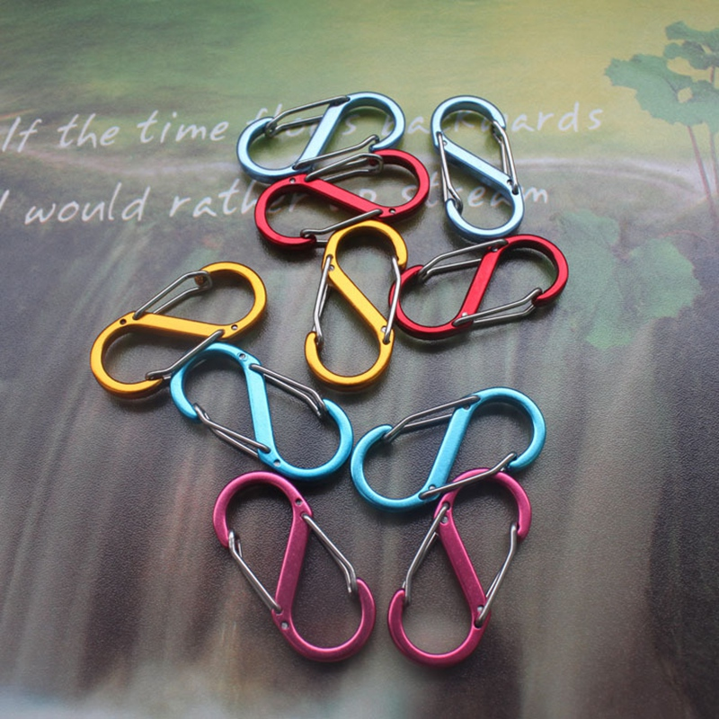 S-Type Carabiner 8 Word Buckle Backpack Hanging Aluminum Alloy Outdoor Camping Multi-Function EDC Hanging Hook