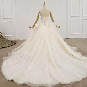 Image 2 - HTL1200 tüll hochzeit kleid 2020 liebsten applique pailletten kristall lace up prinzessin cut hochzeit kleider neue vestido de casamento