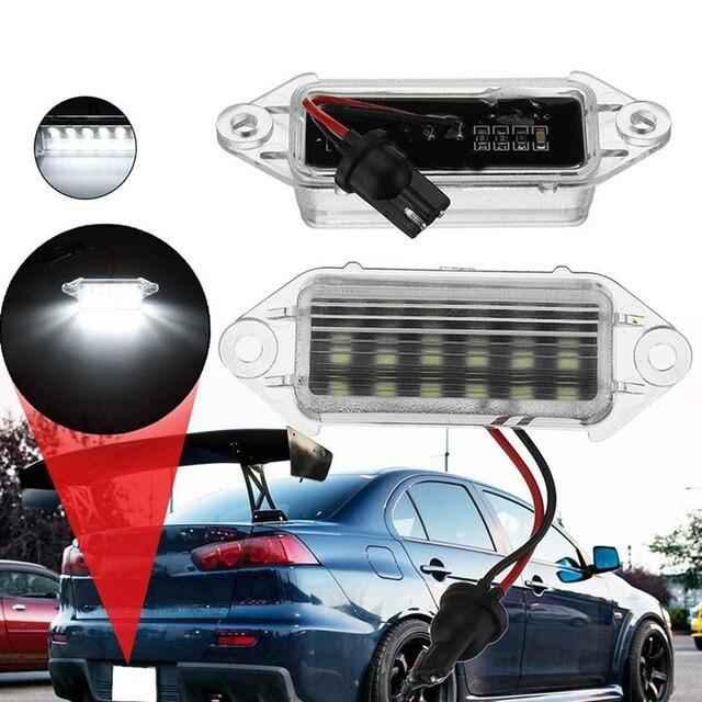 Ampoules de plaque dimmatriculation Led 18Smd | 2 pièces, sans erreur, lampe à 2003 blanche pour Mitsubishi Lancer X Evo 2017-