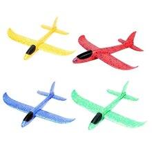 37 см самолет из пеноматериала самолет игрушки ручной бросок Epp Запуск планер гибкий самолет дети подарок игрушка бесплатно Летающий аэроплан головоломка модель игрушки